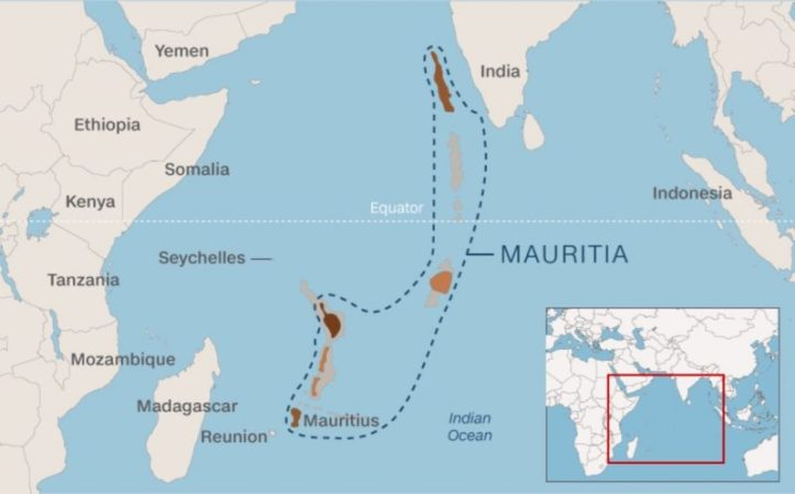 Mauritia is the name given to the proposed 'lost continent,' whose remains may exist today beneath the Indian Ocean.